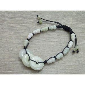 Jewelry - Money & Protection, Lucky Jade Cord Bracelet